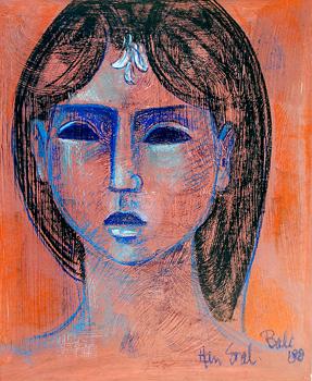 Sketch of Balinese woman